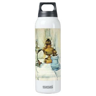 Juan Gris - todavía vida con tres lámparas Botella Isotérmica De Agua