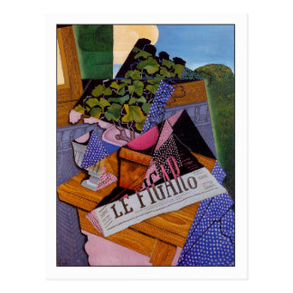 "Juan Gris ""un pote de geranios "" Tarjetas Postales"