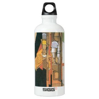 Juan Gris - vidrios periódico y botella de vino