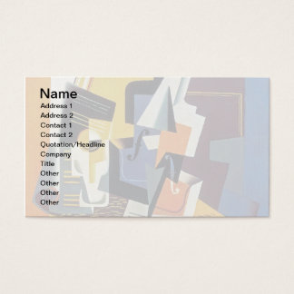 Juan Gris - Violin and Glass - Abstract Art Business Card