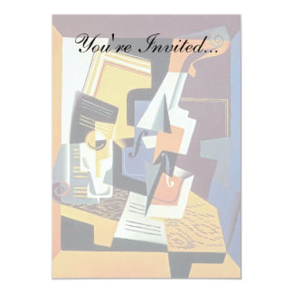 Juan Gris - Violin and Glass - Abstract Art Card