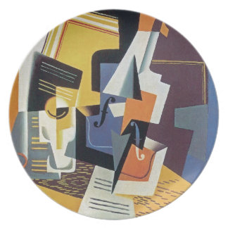 Juan Gris - Violin and Glass - Abstract Art Plate