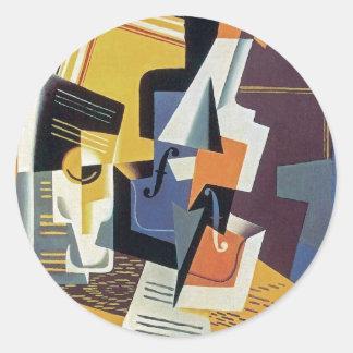 Juan Gris - Violin and Glass Classic Round Sticker