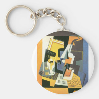 Juan Gris - Violin and Glass Keychain