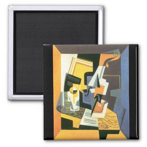 Juan Gris - Violin and Glass Fridge Magnet