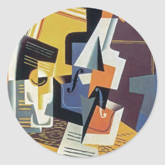 Juan Gris - Violin and Glass Sticker