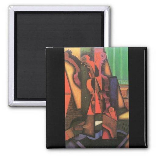Juan Gris - Violin and guitar Fridge Magnets