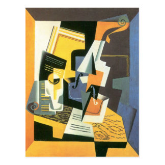 Juan Gris - violín y vidrio Postales