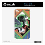 Juan Gris - Whistle and fruit bowl of grapes iPhone 4 Skins