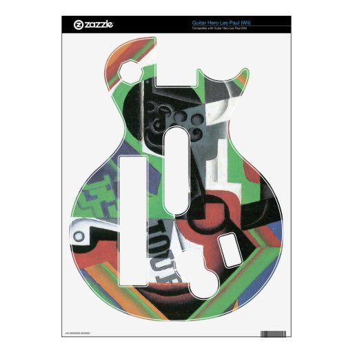 Juan Gris - Whistle and fruit bowl of grapes Skins For Guitar Hero