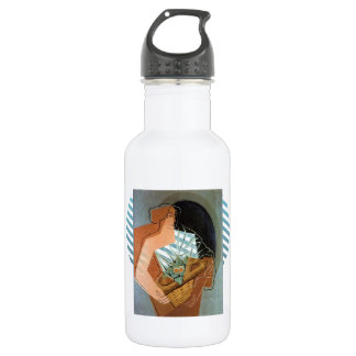Juan Gris- Woman With Basket 18oz Water Bottle