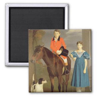 Juan Gubbins Newton y su hermana Maria, 1832-33 ( Imán Cuadrado
