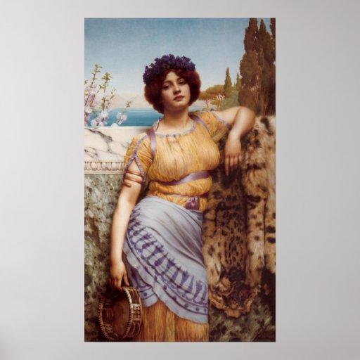 Juan Guillermo Godward - chica de baile jónico Posters