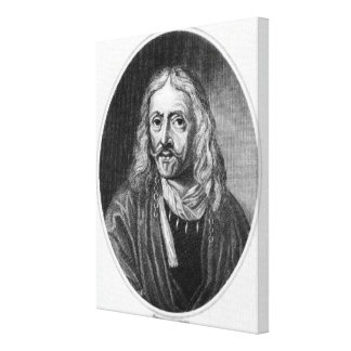 Juan Hevelius, grabado por J. Baker Impresiones En Lienzo Estiradas