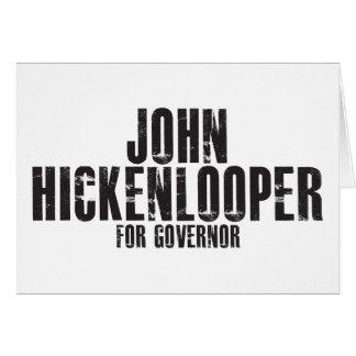 Juan Hickenlooper para el gobernador 2010 Tarjeta De Felicitación