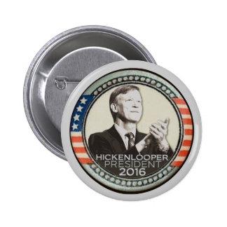 Juan Hickenlooper para el presidente en 2016 Pin Redondo De 2 Pulgadas