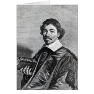 Juan Hoornbeek, grabado por Jonas Tarjeta De Felicitación