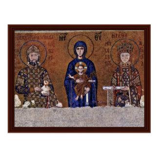 Juan Ii Comnenus, emperador bizantino y su esposa Tarjetas Postales