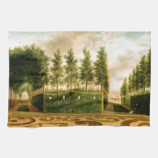 Juan Janson un arte del siglo XVIII del jardín Toalla