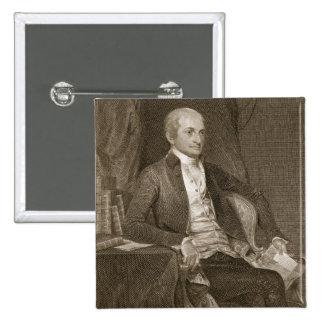 Juan Jay, grabado por Asher Brown Durand (1796-188 Pin Cuadrado