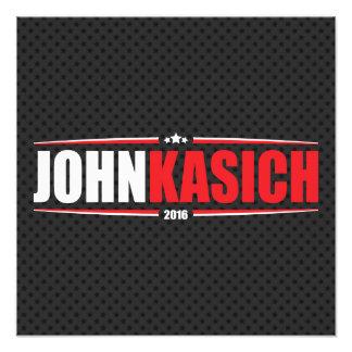 Juan Kasich 2016 (estrellas y rayas - negro) Impresiones Fotograficas