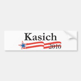 Juan Kasich para el presidente 2016 Pegatina Para Auto