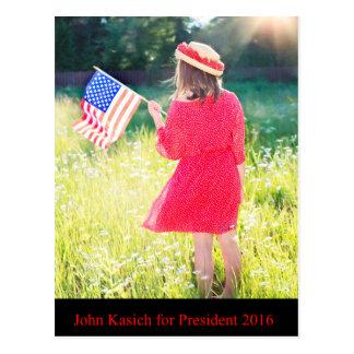 Juan Kasich para el presidente 2016 Postales
