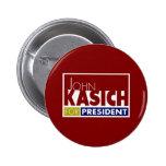Juan Kasich para presidente V1 Pin Redondo 5 Cm