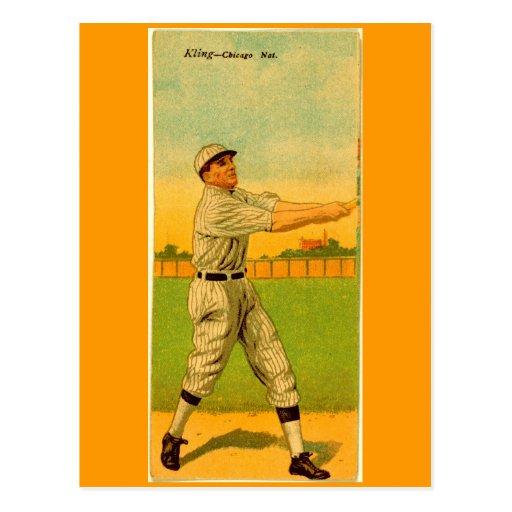Juan Kling, Chicago Cubs Tarjetas Postales