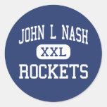Juan L Nash Rockets Clifton medio Illinois Pegatinas Redondas
