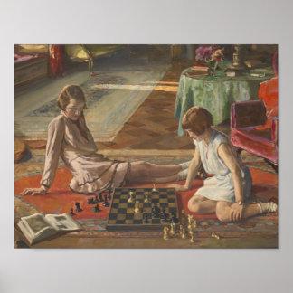 Juan Lavery Los jugadores de ajedrez Posters