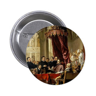 Juan Leal-Conversion and Baptism of St. Augustine Pinback Buttons