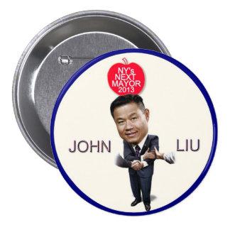 Juan Liu para el alcalde 2013 de NYC Pin Redondo 7 Cm