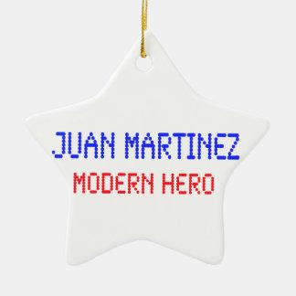 Juan Martínez - héroe moderno Adorno Navideño De Cerámica En Forma De Estrella