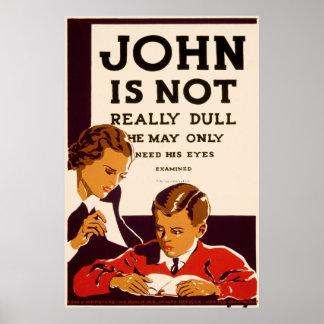 Juan necesita un examen de la vista posters