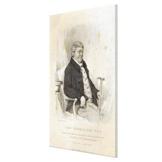 Juan Nichols, grabado por H. Meyer, 1825 Impresión En Tela