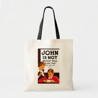 Juan no es realmente embotado bolsa tela barata