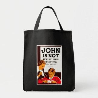 Juan no es realmente embotado bolsa tela para la compra