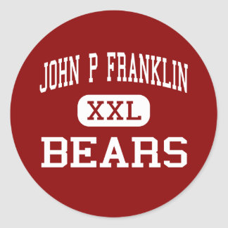 Juan P Franklin - osos - centro - Chattanooga Etiqueta Redonda