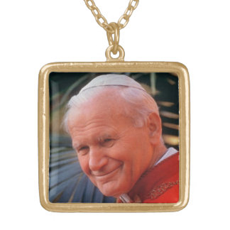 Juan Pablo II bendecido Colgante Cuadrado