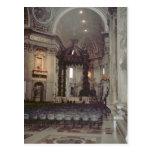 Juan Pablo II en la galería en San Pedro Tarjetas Postales
