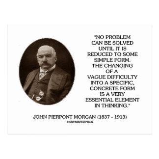Juan Pierpont Morgan ningún problema puede ser sol Tarjeta Postal