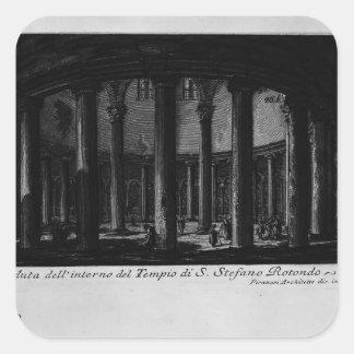 Juan Piranesi- las antigüedades romanas Pegatina Cuadrada