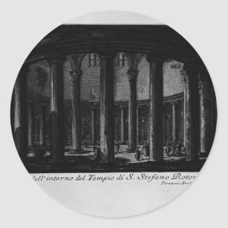 Juan Piranesi- las antigüedades romanas Pegatina Redonda