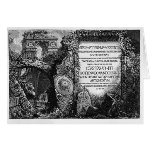 Juan Piranesi- las antigüedades romanas Tarjeta De Felicitación