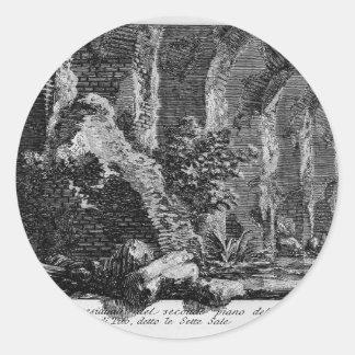 Juan Piranesi- los siete pasillos Pegatina Redonda
