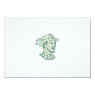 Juan Ponce de Leon Explorer Drawing Card