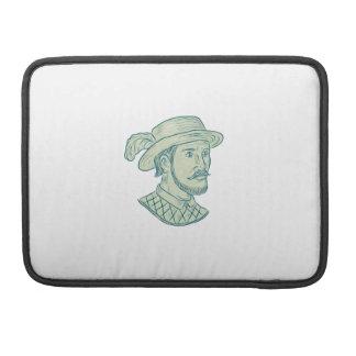 Juan Ponce de Leon Explorer Drawing Sleeve For MacBook Pro