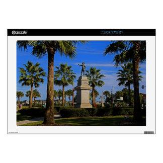 """Juan Ponce de Leon -horizontal 17"""" Laptop Decal"""