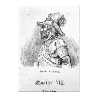 Juan Ponce de León Impresión De Lienzo